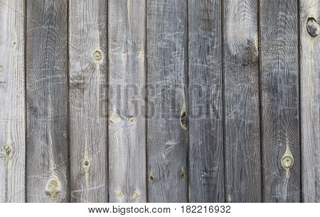Background of grey wooden boards. Wall of the old wooden boards