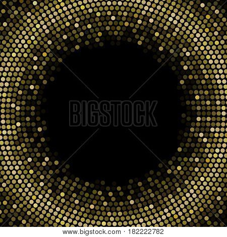 Golden glitter background in disco theme, suitable for use in celebration such as Christmas backdrop