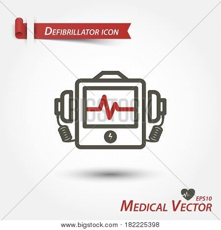 Defibrillator icon . a Medical vector .