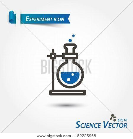 Experiment icon . a Scientific vector .