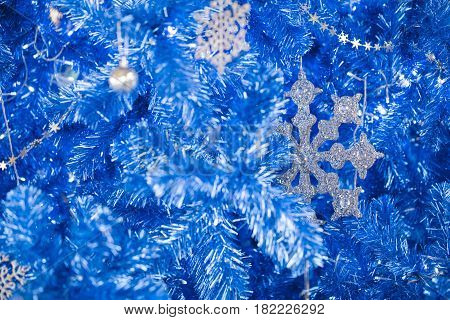 fantasy blue glitter Christmas happy new year for background