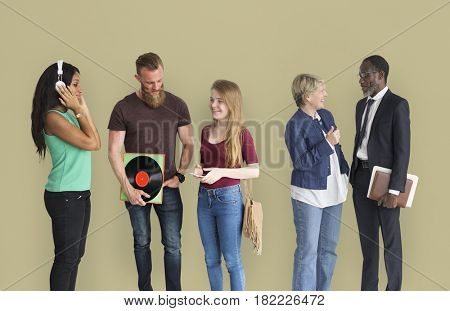 Diverse Group People Communication