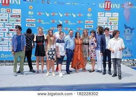 Giffoni Valle Piana Sa Italy - July 24 2016 : Cast Tv Series Braccialetti Rossi at Giffoni Film Festival 2016 - on July 24 2016 in Giffoni Valle Piana Italy