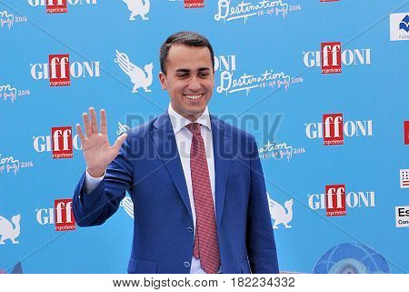 Giffoni Valle Piana Sa Italy - July 22 2016 : Luigi Di Maio at Giffoni Film Festival 2016 - on July 22 2016 in Giffoni Valle Piana Italy