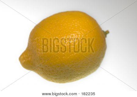Closeup Of A Whole Lemon