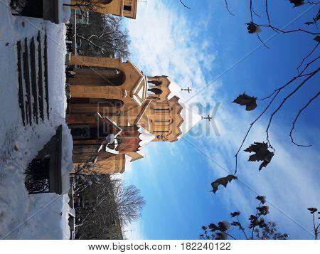 Республика Армения, город Ереван, церковь, улица Саят-Нова, улица Абовян