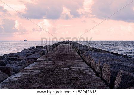 Walking Down the Pier in Port Aransas