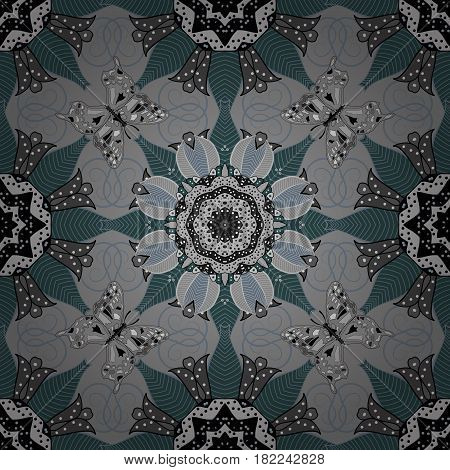 Vector architectural muslim texture design. Can be used for brochures invitations persian motif. Islamic colored mandala round ornament on a colorful background.