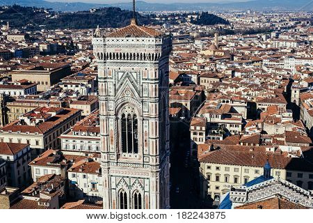 Italy. Florence. View from the Cathedral of Santa Maria del Fiore