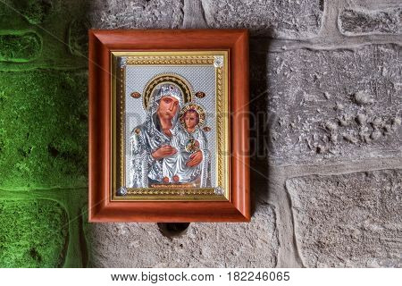 Icon Of The Mother Of God On Monastery Of St Gerasimus Wall