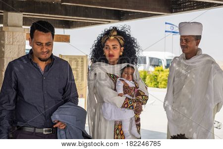 Ethiopian Christianity Pilgrims At Christ Baptism Place - Qasr El Yahud