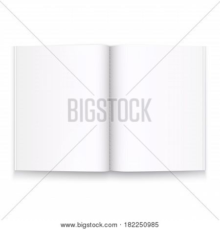 Book journal open on a white background . Vector illustration