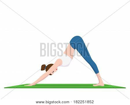 picture of young fit woman doing yoga practice, fitness and sport concept