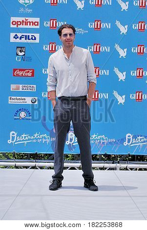 Giffoni Valle Piana Sa Italy - July 19 2016 : Giampaolo Morelli at Giffoni Film Festival 2016 - on July 19 2016 in Giffoni Valle Piana Italy
