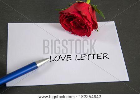 love letter  -  written on an envelope