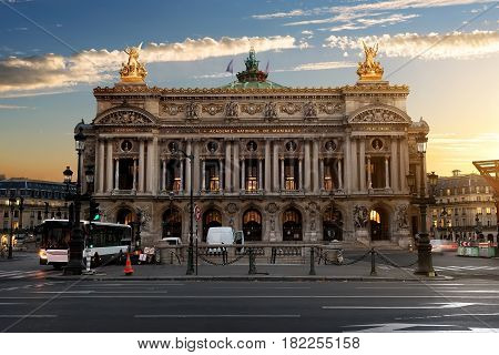 Parisian Grand Opera in the morning, France