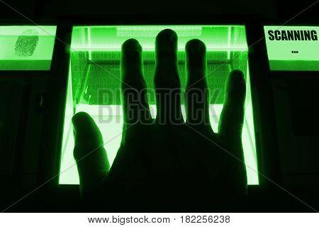 Digital fingerprint scanning on a screen to unlock a computersystem