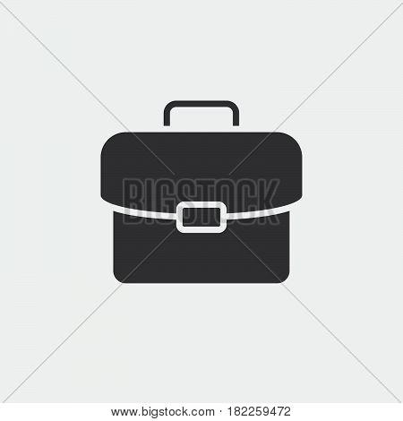 briefcase solid icon portfolio vector illustration pictogram isolated on white