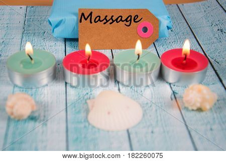 Massage - written on a paper tag