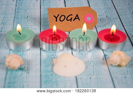 Yoga - written on a paper tag