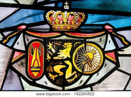 Stained Glass - Belgian Coat Of Arms