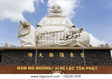 Vinh Trang Temple In Mekong Delta, Vietnam