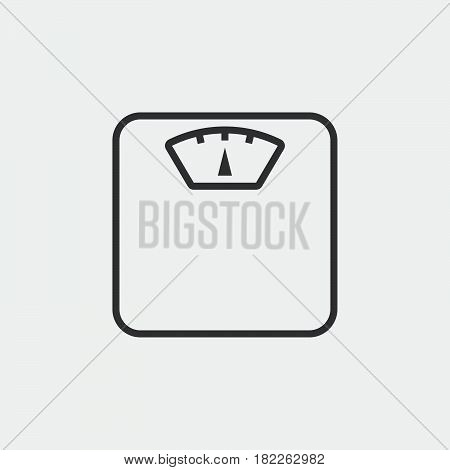 Weight scale icon isolated on grey background .