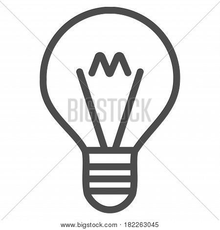 Hint Lamp vector pictogram. Illustration style is a flat iconic gray symbol on a white background.
