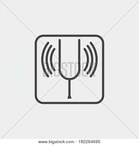 tuning fork icon isolated on grey background