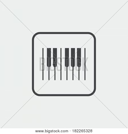 piano keys icon isolated on grey background
