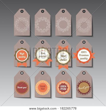 Set of tags about hand made stuff. Stock vector