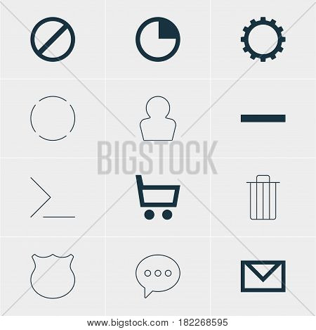 Vector Illustration Of 12 Member Icons. Editable Pack Of Message, Minus, Avatar And Other Elements.