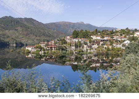 Beautiful village of Vilar da Veiga in Geres national park, Portugal