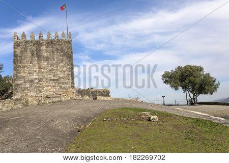Castle of Povoa de Lanhoso and park, north of Portugal