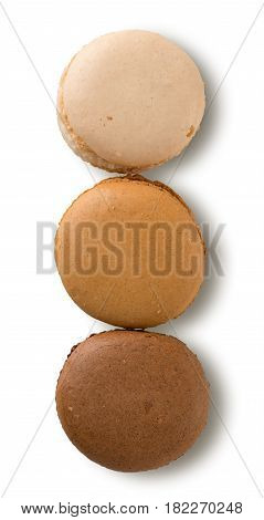 Brown Macarons Isolated