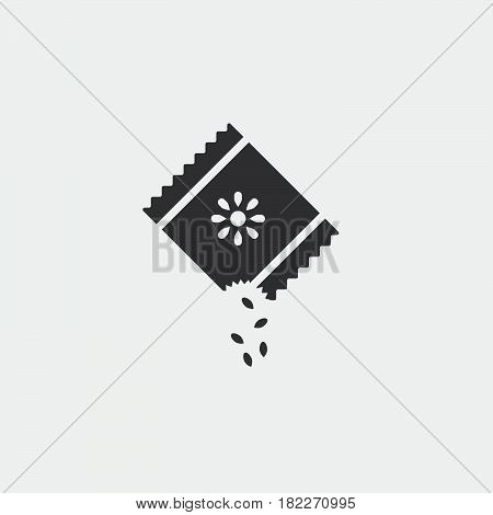 seed icon. Sowing of seeds icon Vector.