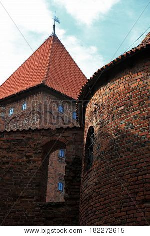 Poland old castle Nidzica old teutonic building