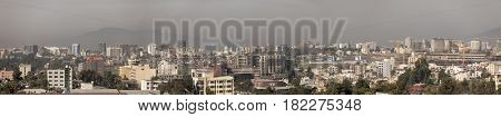 Panorama of skyline of Addis Ababa, Ethiopia