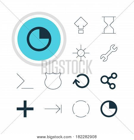 Vector Illustration Of 12 User Icons. Editable Pack Of Publish, Startup, Renovate And Other Elements.