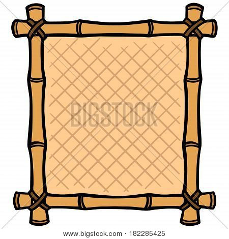 A vector illustration of a Bamboo Frame.