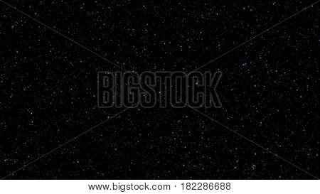 Glowing Shimmering Stars In Space Abstract Background