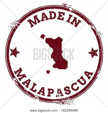 Malapascua Island Seal. Vintage Island Map Sticker. Grunge Rubber Stamp With Made In Text And Map Ou