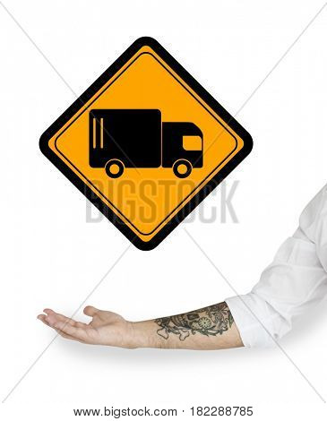 Truck Lorry Logistic Transportation Sign