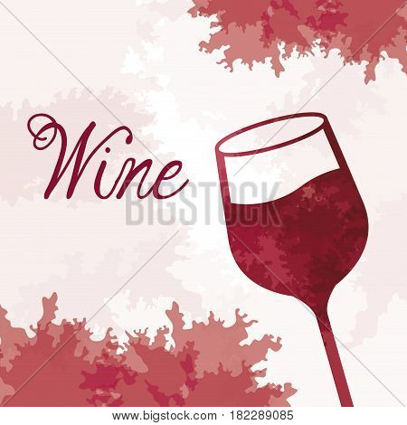 wine glassware vintage image vector illustration eps 10