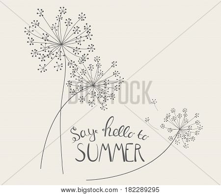 Say Hello to Summer Natural Background Vector Illustration EPS10