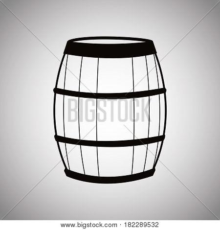 wine barrel wooden image vector illustration eps 10