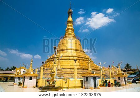 Botataung pagoda located in downtown Yangon, Myanmar. (Burma)