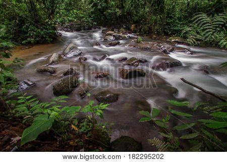 River flow at situgunung west java Indonesia