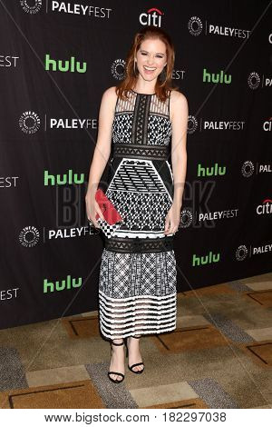 LOS ANGELES - MAR 19:  Sarah Drew at the 34th Annual PaleyFest Los Angeles -