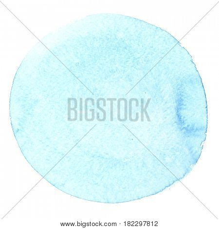 Pale cyan blue watercolor circle - abstract background